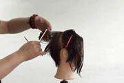 教你明星同款发型的剪裁美发视频